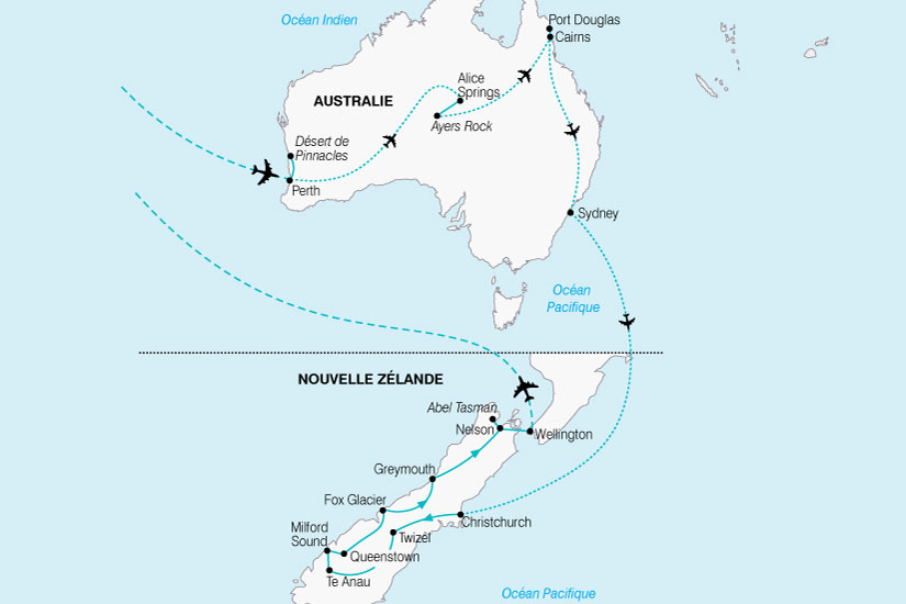 carte Australie Nvelle Zelande Coeur Oceanie 212938