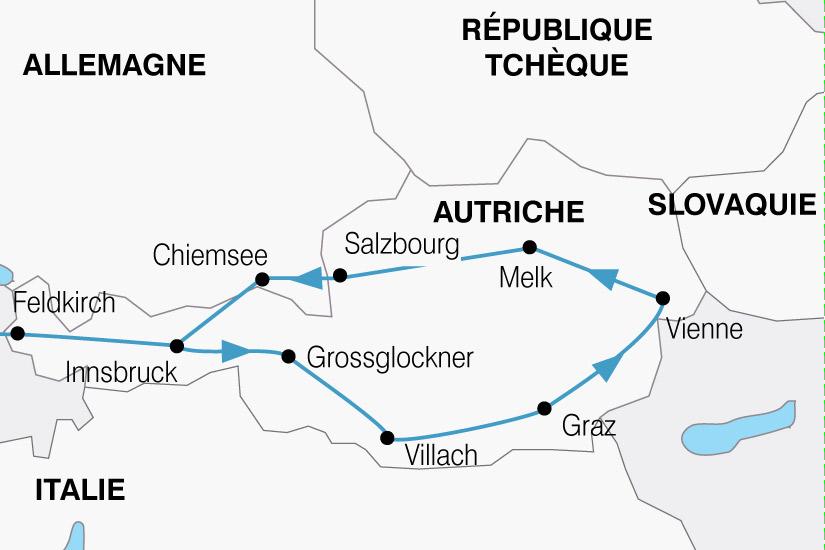 carte Autriche Grand Tour 100446