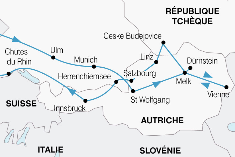 carte Autriche Haute 347866