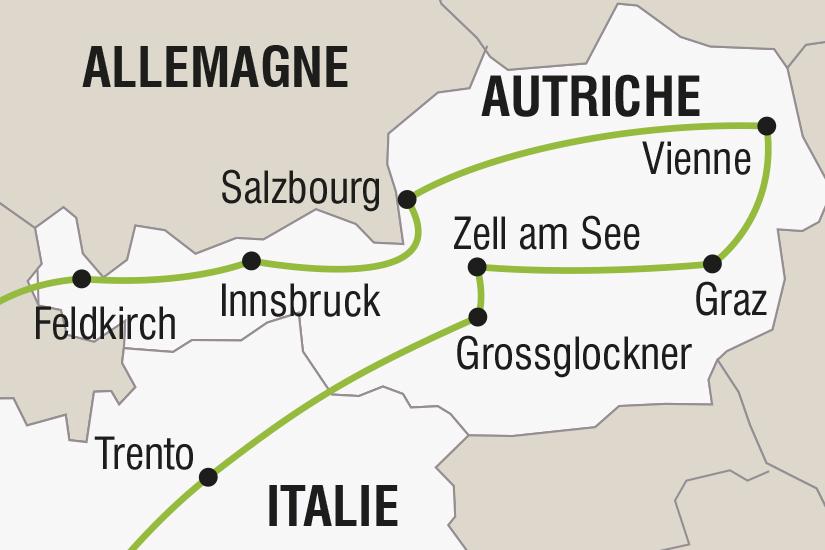 carte Autriche Italie L Autriche et Vienne l Imperiale SH SUD19 20_321 543327