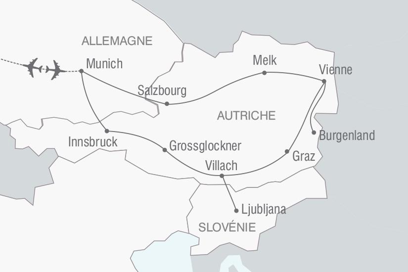 carte Autriche Le Grand Circuit d Autriche nt 2018_261 129000