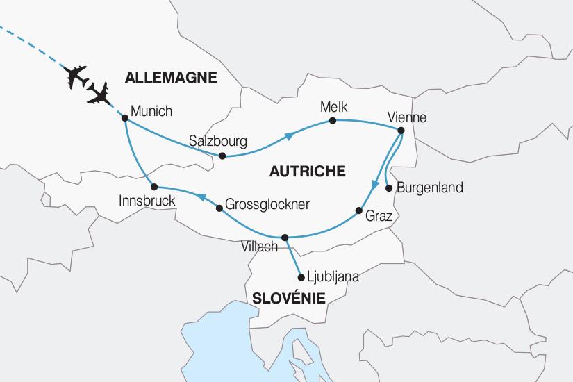 carte Autriche Le Grand Tour d Autriche le joyau des Alpes 2018_267 217128