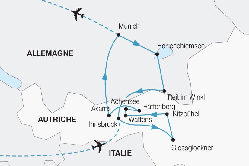 carte Autriche Tresors de la Baviere et du Tyrol SH20_339 440029