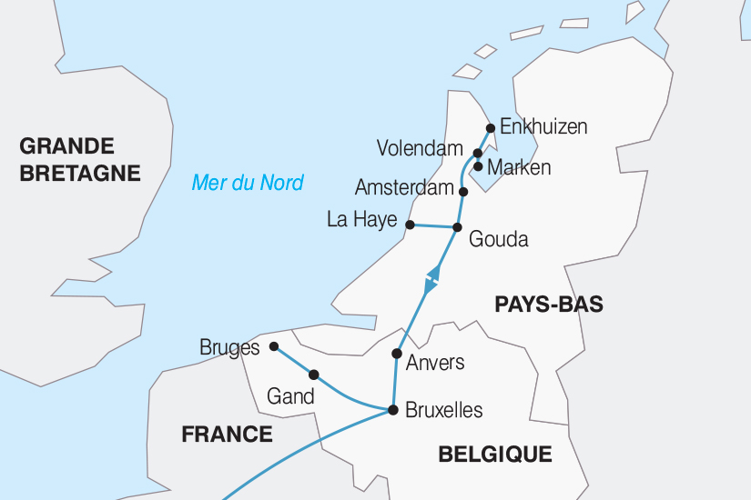 carte Belgique La Belgique et la Hollande le coeur de l Europe 2018_267 335646