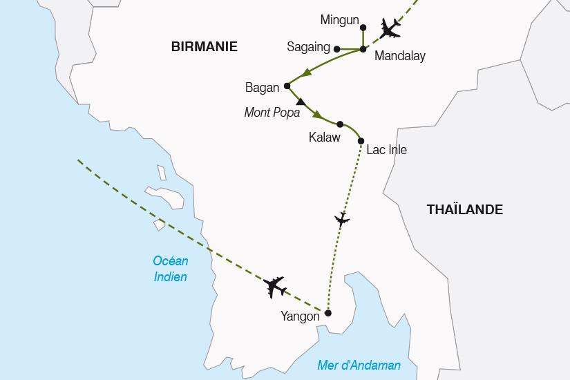 carte Birmanie Charmes de Birmanie SH19 20_319 779944