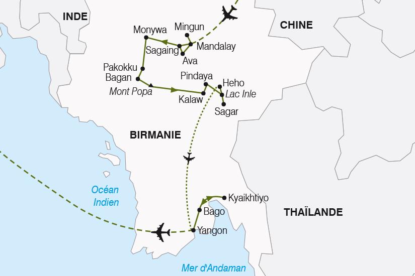 carte Birmanie Myanmar Tresors Birmans SH20_339 196138