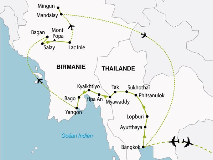 carte Birmanie Thailande 289351
