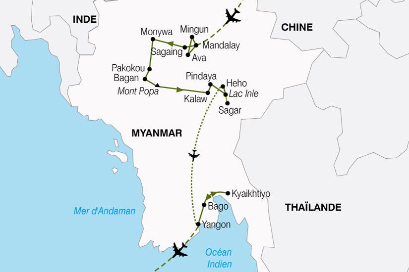 carte Birmanie Tresors Birmans 108397