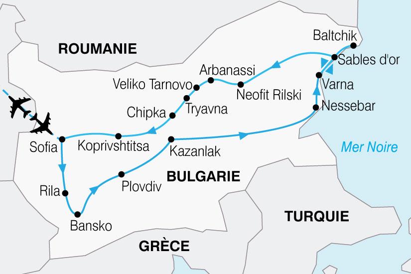 carte Bulgarie Balkans Mer Noire 852313