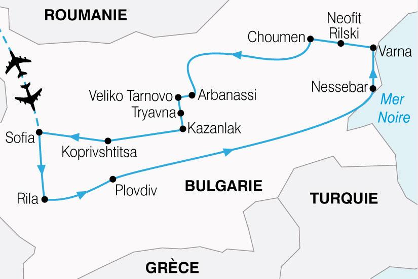 carte Bulgarie Decouverte 811459