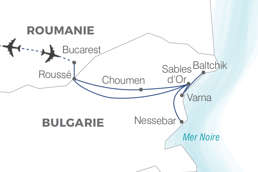 carte Bulgarie Escapade bulgare Pouchkine Tours 19_286 340944