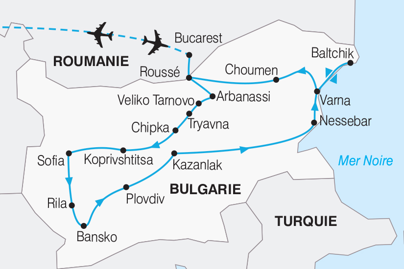 carte Bulgarie La Bulgarie Balkan et mer Noire_267 339185