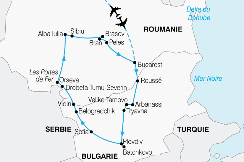 carte Bulgarie Roumanie Joyaux 135394