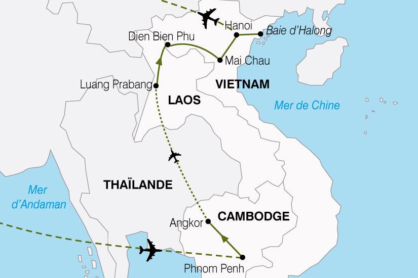 carte Cambodge Laos Vietnam 607579