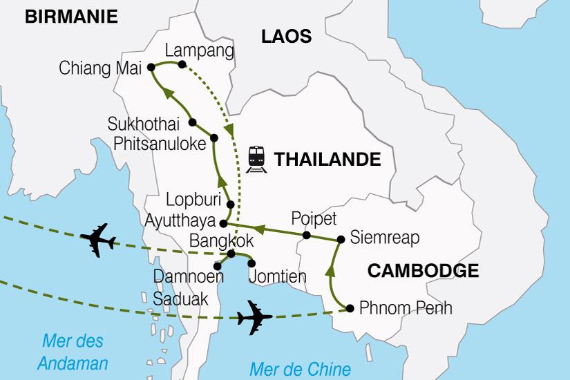 carte Cambodge Thailande 462730