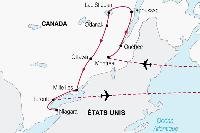 carte Canada Est Canadien 817585