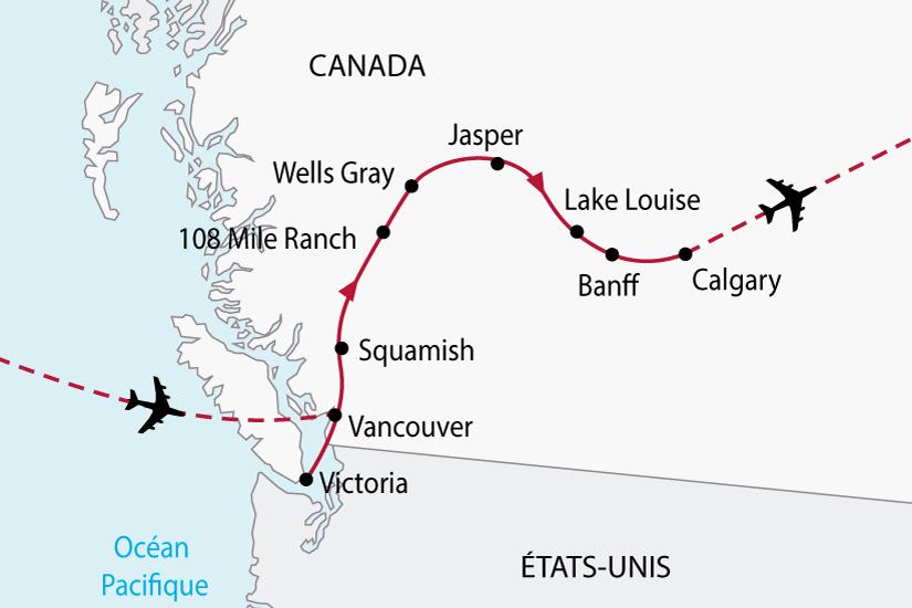 carte Canada OuestCanadien 578414