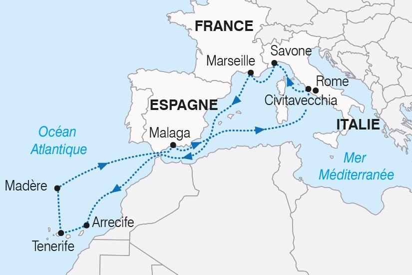 carte Canaries Madere Espagne Italie Cap sur les iles du soleil SH20_339 601060