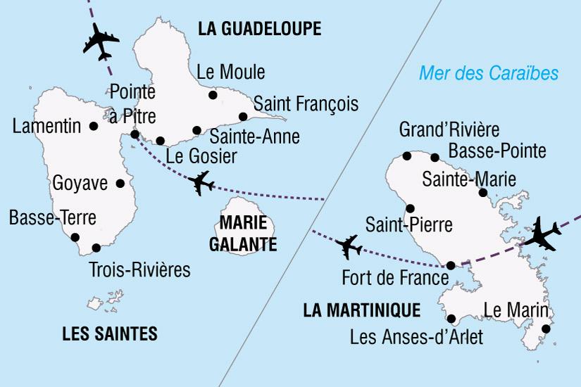 carte Carnavals Antilles 860924