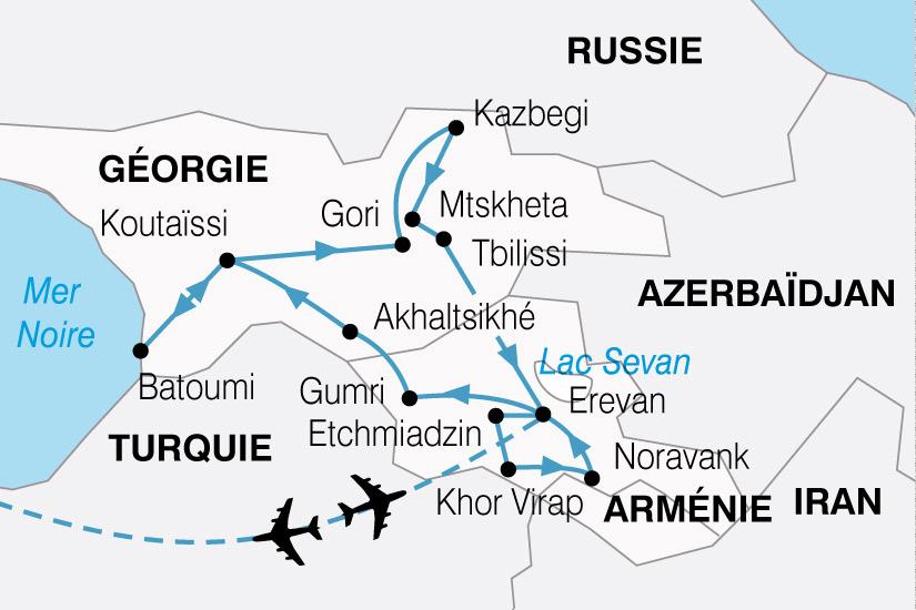 carte Caucase Georgie Armenie Memoire du Monde 225538