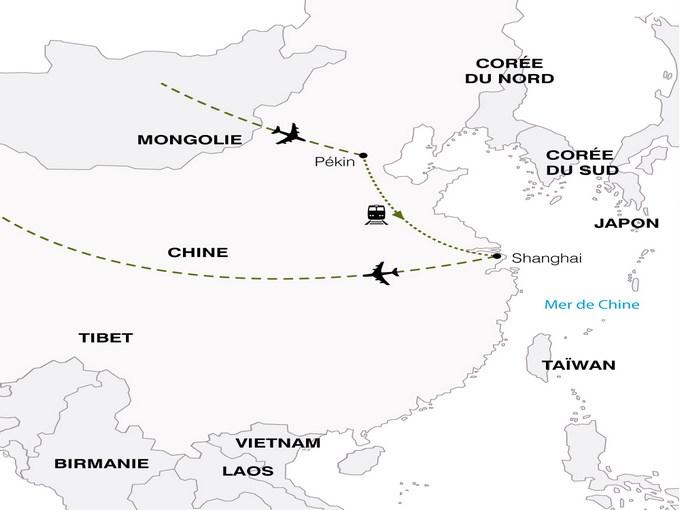 Carte Chine Voyage.Circuit Chine La Chine Combine Express Pekin Shanghai 7