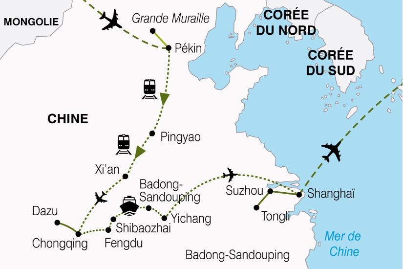 carte Chine Circuit Croisiere Yang Tse 711674