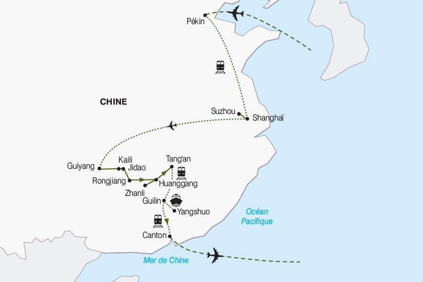 carte Chine La Chine insolite a la rencontre des ethnies 2019_292 635019