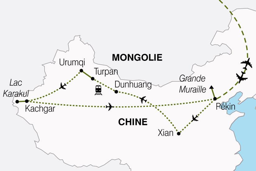 carte Chine Route de la Soie 350622