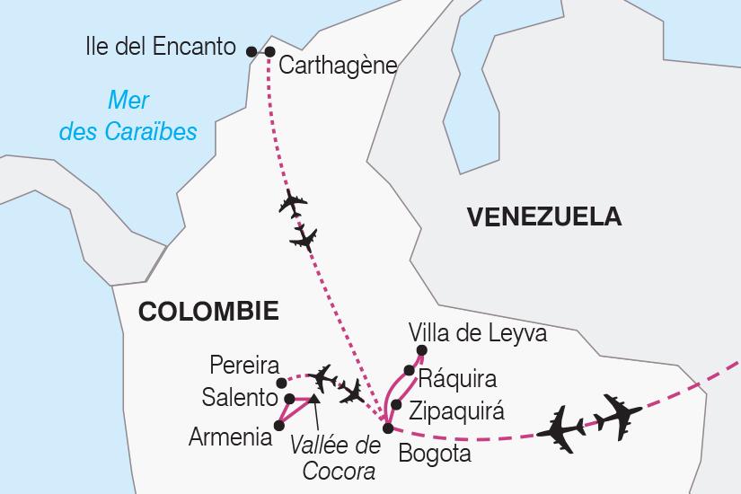 carte Colombie Charmes de Colombie SH20_339 816058