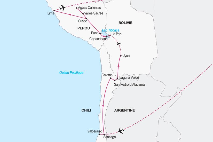 carte Combine Chili Bolivie et Perou SH19 20_319 101893