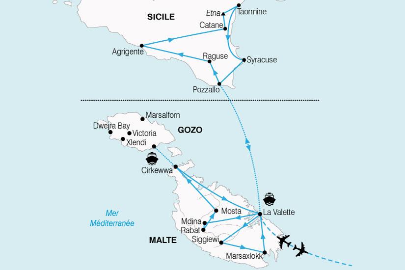 carte Combine Malte Sicile 379047