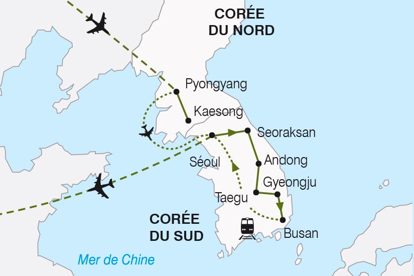 carte Coree Les Deux Coree de chaque cote du Rideau de Bambou SH19 20_319 520754