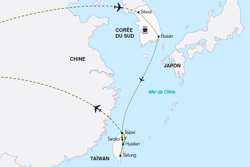 carte Coree du Sud et Taiwan SH19 20_319 453712
