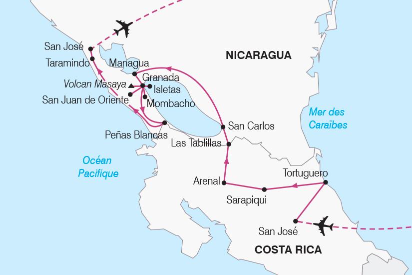 carte Costa Rica Nicaragua joyaux de l Amerique centrale SH19 20_319 582732