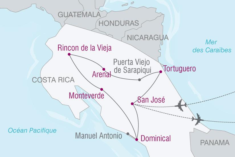 carte Costa Rica Paradis Vert 728486