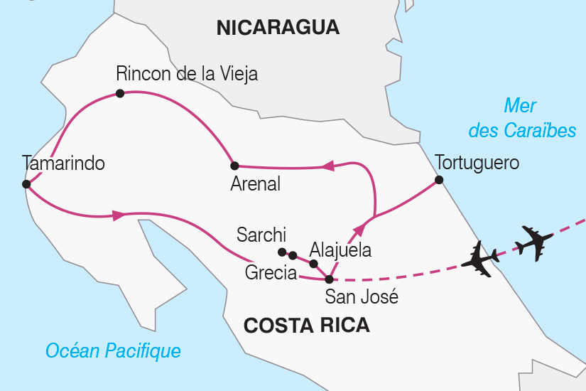 carte Costa Rica entre volcans et oceans SH19 20_319 405784