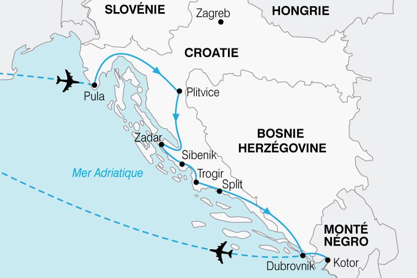 carte Croatie Grand Tour 713643