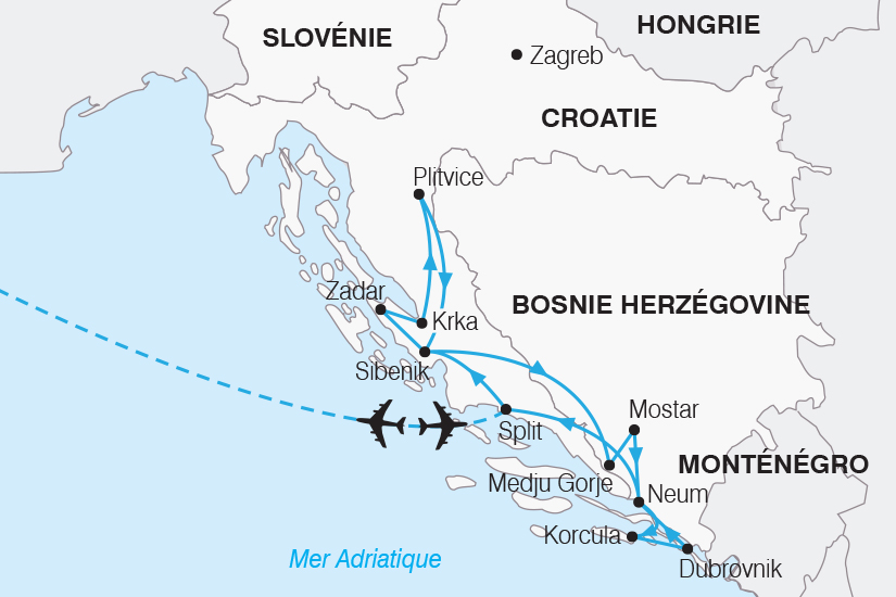 carte Croatie Joyau de l Adriatique SH20_339 230061