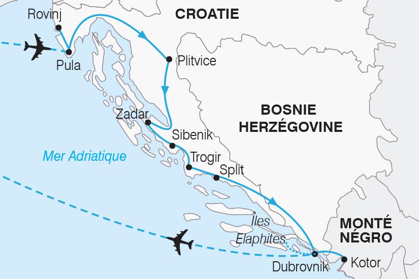 carte Croatie Le Grand Tour de Croatie SH19 20_319 168990