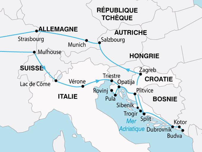 carte Croatie Les Joyaux 622152
