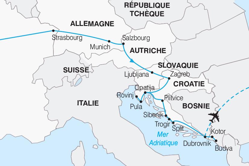 carte Croatie Les Joyaux de la Croatie 2018_267 175588