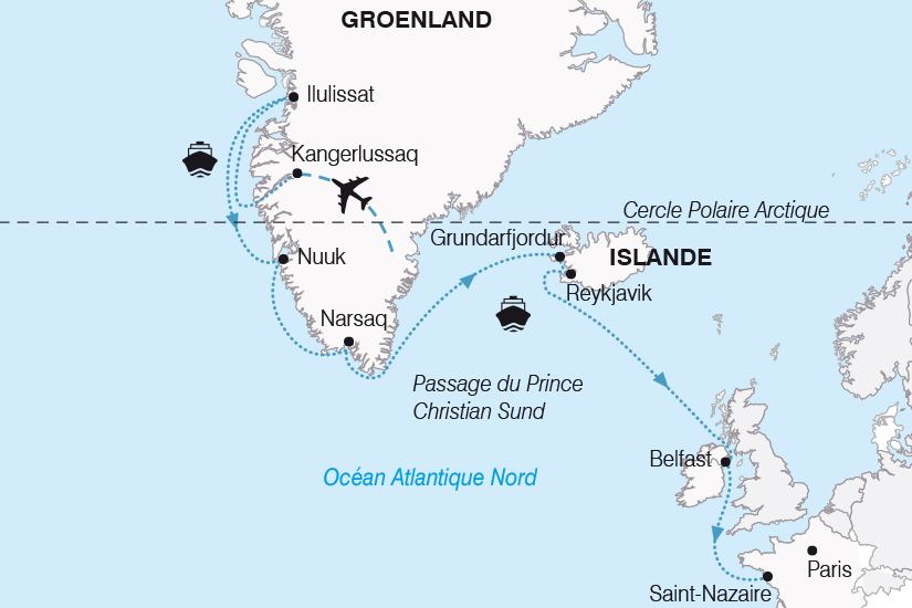 carte Croisiere Groenland et Islande SH20_339 353554