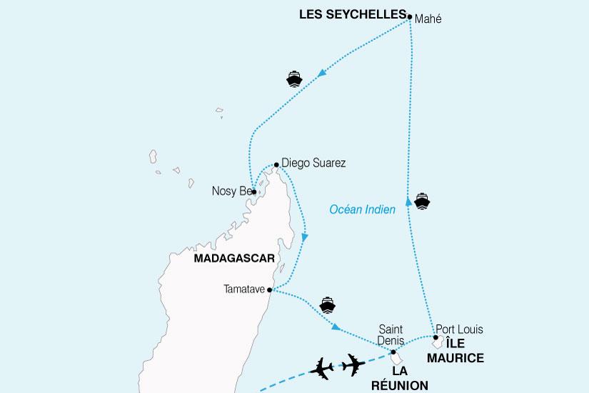 carte Croisiere Ocean Indien 897728