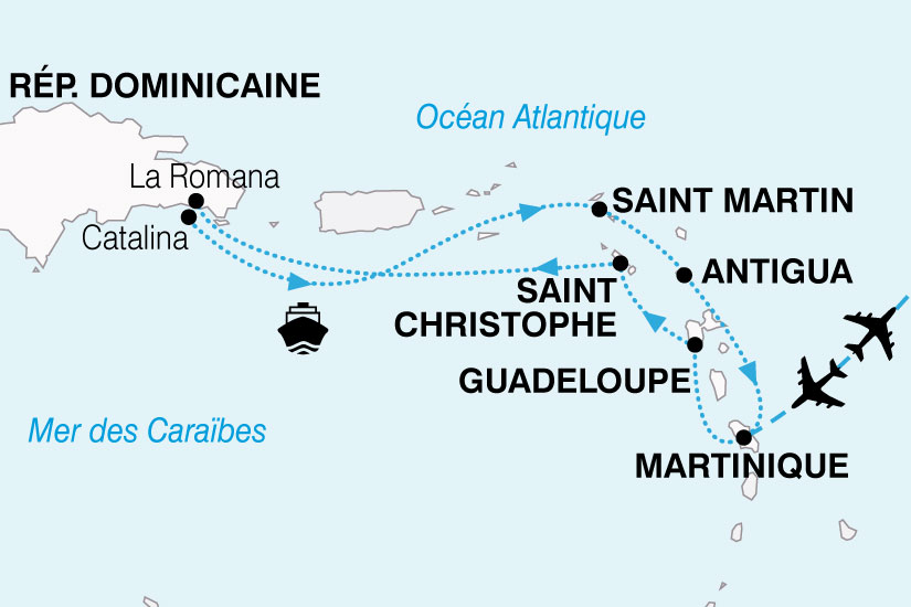 carte Croisiere Perles Antilles 227510