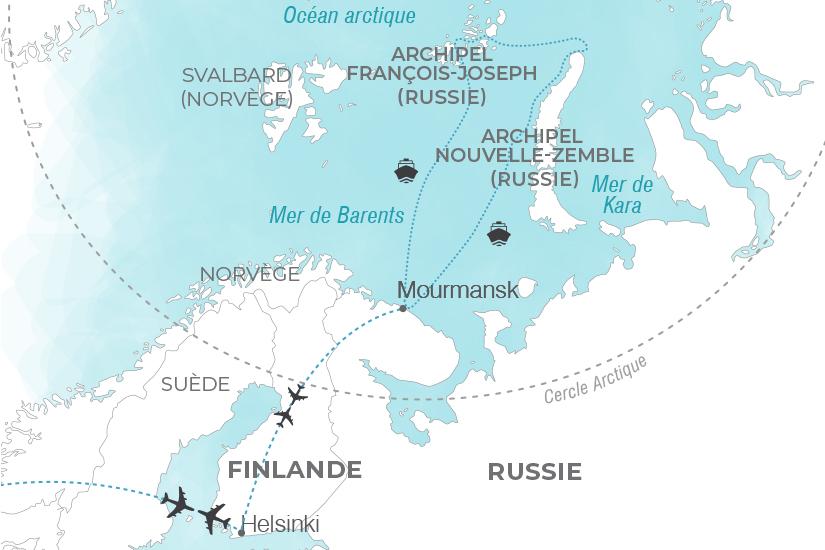 carte Croisiere d expedition Les joyaux de l Arctique russe Pouchkine Tours 20_340 640485