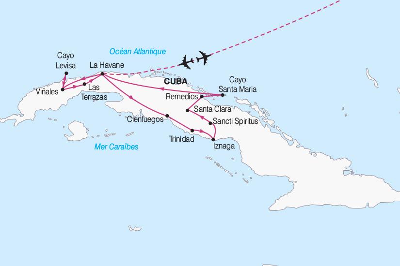 carte Cuba Cuba Charme des Caraibes 2018_267 712187
