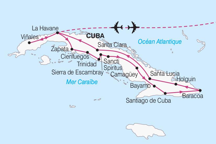 carte Cuba Le Grand Tour de Cuba de la Havane a Santiago 2018_267 373333