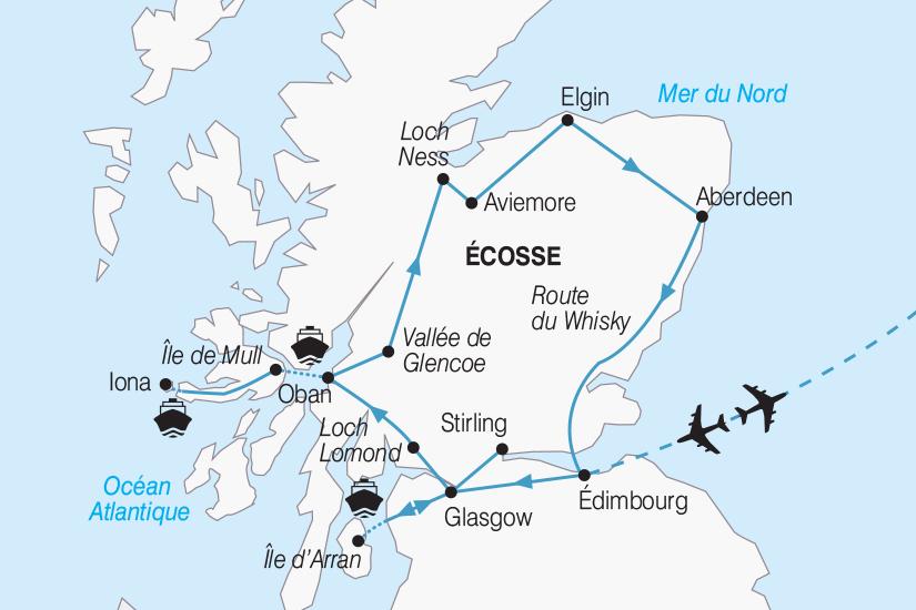 carte Ecosse L Ecosse entre Lochs et Highlands 2019_292 805274