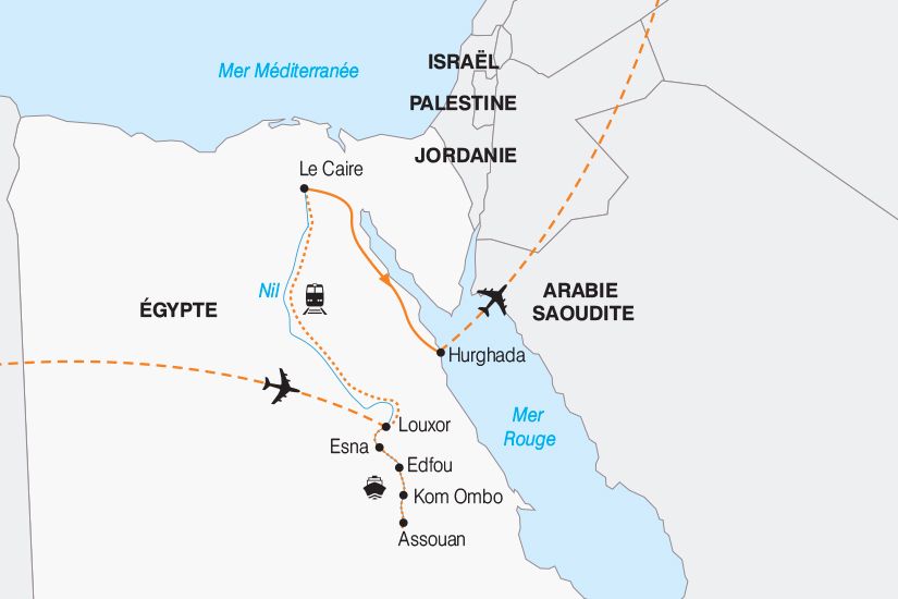 carte Egypte Egypte des rives du Nil a la Mer Rouge 2018_267 186010