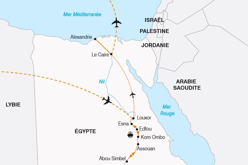 carte Egypte sur les Traces des Pharaons SH19 20_319 821036